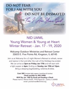 Young Women Retreat & Young At Heart @ Walcamp Theil Center | Kingston | Illinois | United States