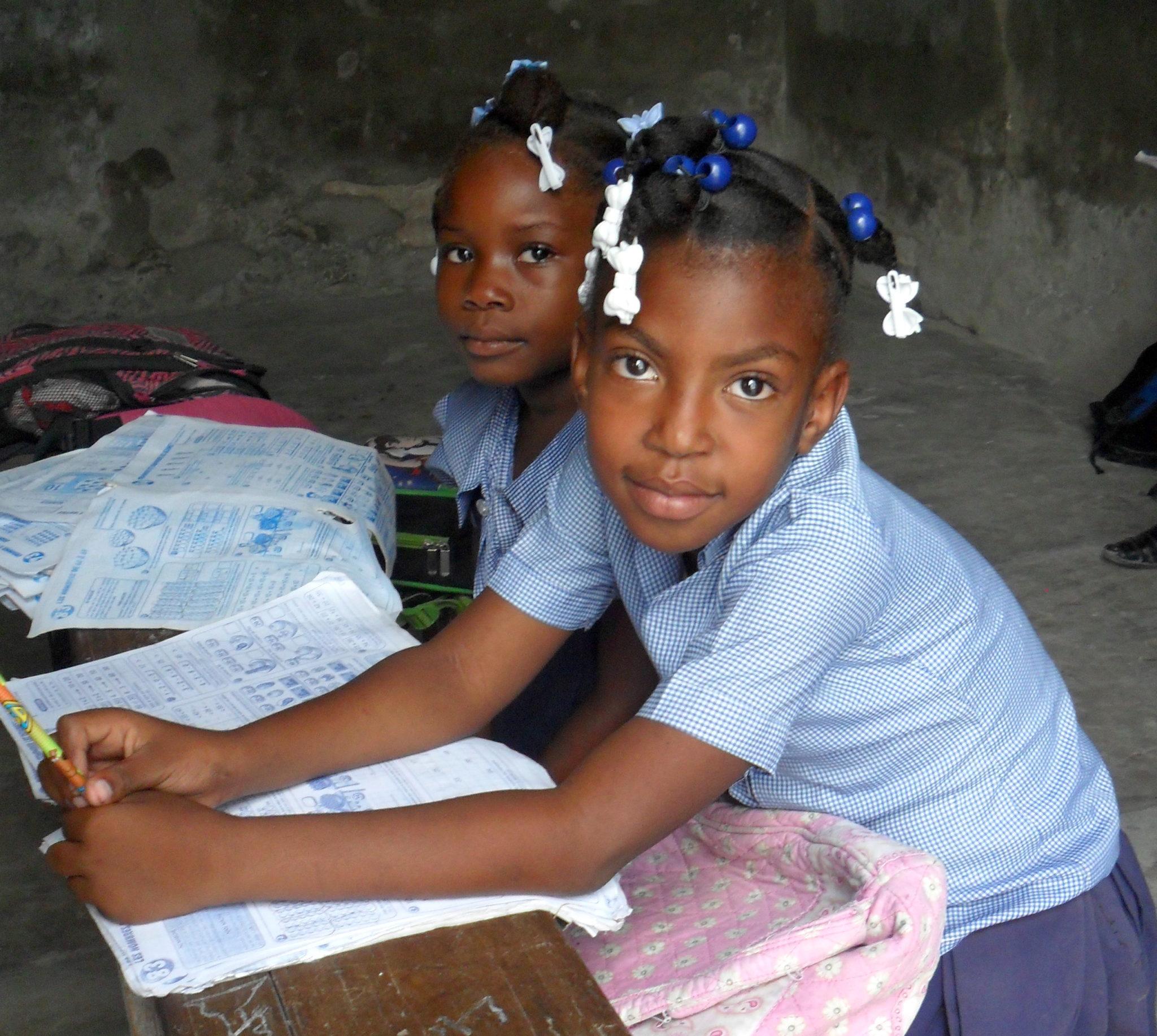 Haitain children in class