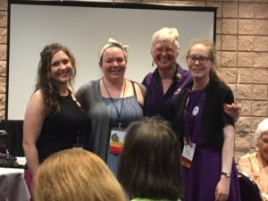 group photo of the LWML NID young women representatives and President Jan.