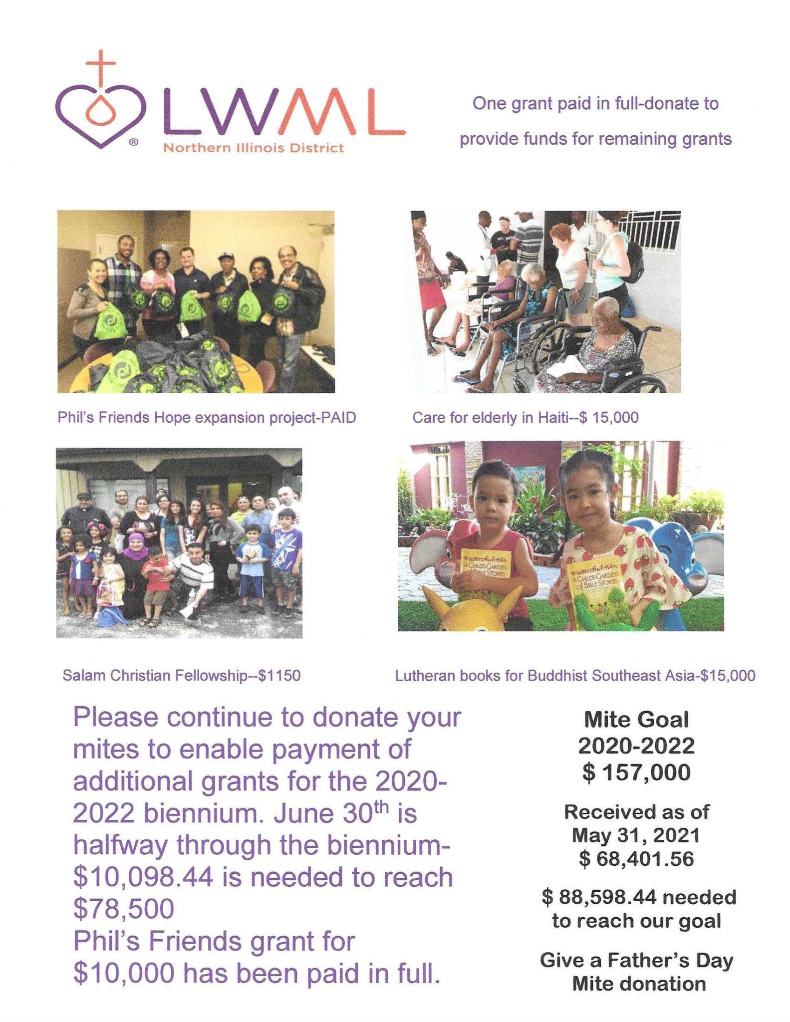 June 2021 Mission Grant poster