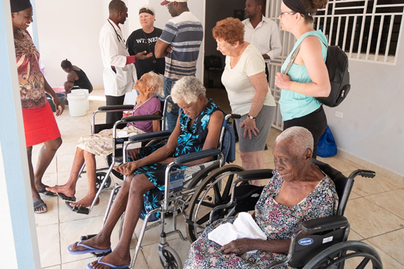 Photo of people at the Jacmel Lutheran Home in Haiti
